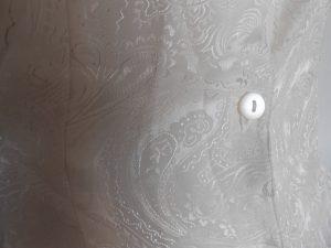 Chemisier long blanc décoré