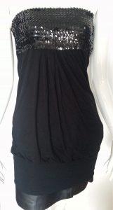 Mini robe - haut long top brillant