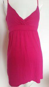 Mini-robe ou haut long fuschsia