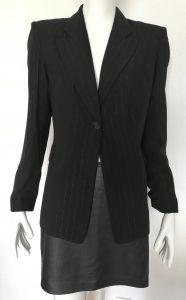 Élégante veste rayures argentées